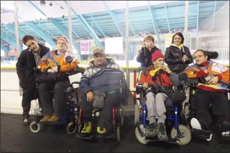 """Supporteurs de Hockey avec les """"Sangliers Arvernes"""""""